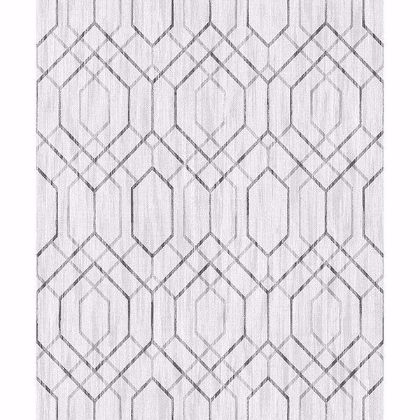 Picture of Lyla Off-White Trellis Wallpaper
