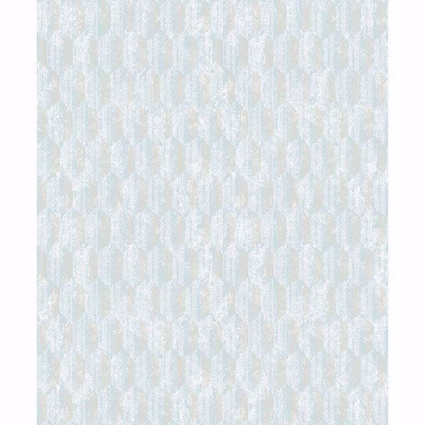 Picture of Kendall Light Blue Geometric Wallpaper