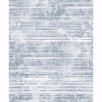 Picture of Makayla Blue Distressed Stripe Wallpaper
