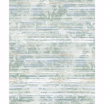 Picture of Makayla Sea Green Distressed Stripe Wallpaper