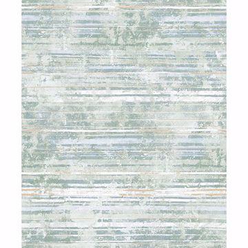 Picture of Makayla Sea Green Distressed Stripe Wallpaper