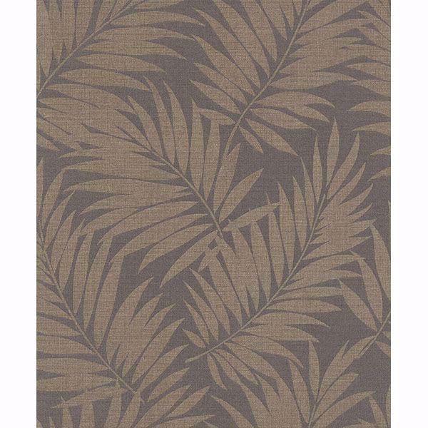 Picture of Edomina Dark Brown Palm Wallpaper
