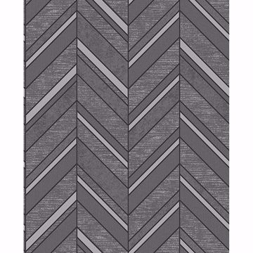 Picture of Punta Mita Charcoal Chevron Wallpaper