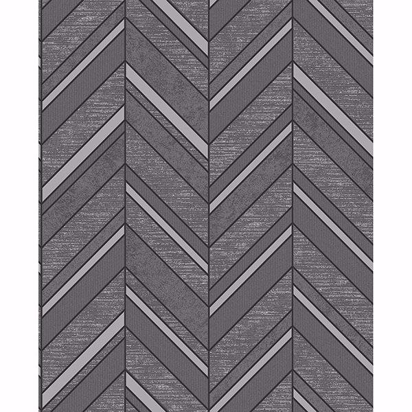 Picture of Punta Mita Charcoal Chevron Wallpaper