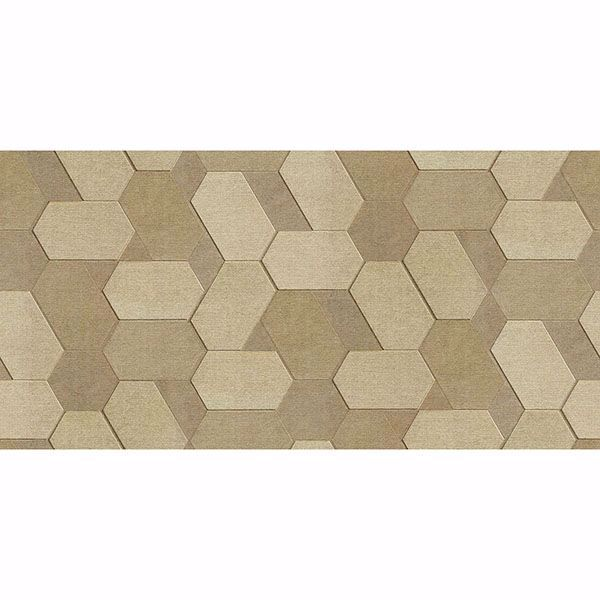 Picture of Plaza Light Brown Geometric Wallpaper