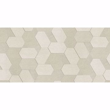 Picture of Plaza Cream Geometric Wallpaper
