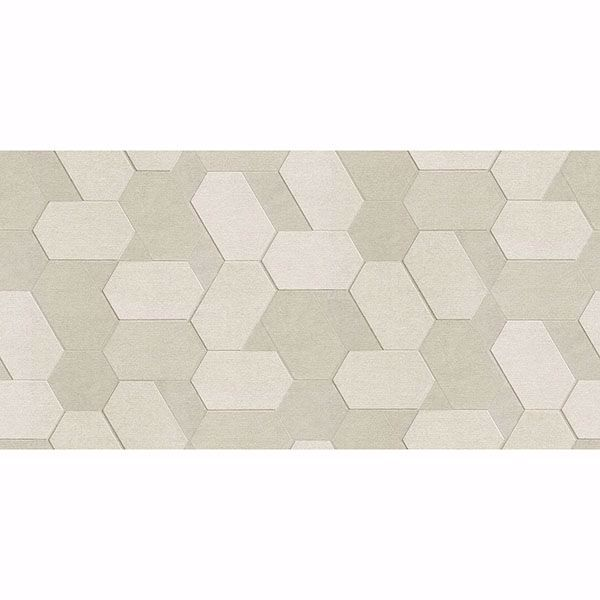 Picture of Plaza Cream Geometric Wallpaper