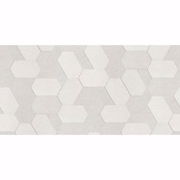 Picture of Plaza Ivory Geometric Wallpaper