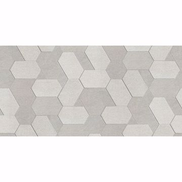 Picture of Plaza Pewter Geometric Wallpaper