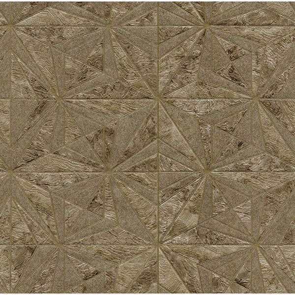 Picture of Los Cabos Brown Marble Geometric Wallpaper