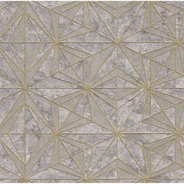 Picture of Los Cabos Lavender Marble Geometric Wallpaper