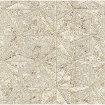Picture of Los Cabos Champagne Marble Geometric Wallpaper