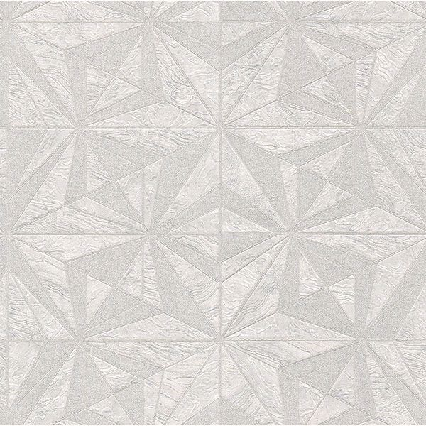 Picture of Los Cabos Ivory Marble Geometric Wallpaper
