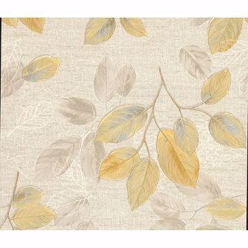 Picture of Dorado Beige Leaf Toss Wallpaper