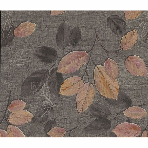 Picture of Dorado Black Leaf Toss Wallpaper