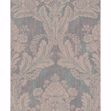 Picture of Zemi Teal Damask Wallpaper