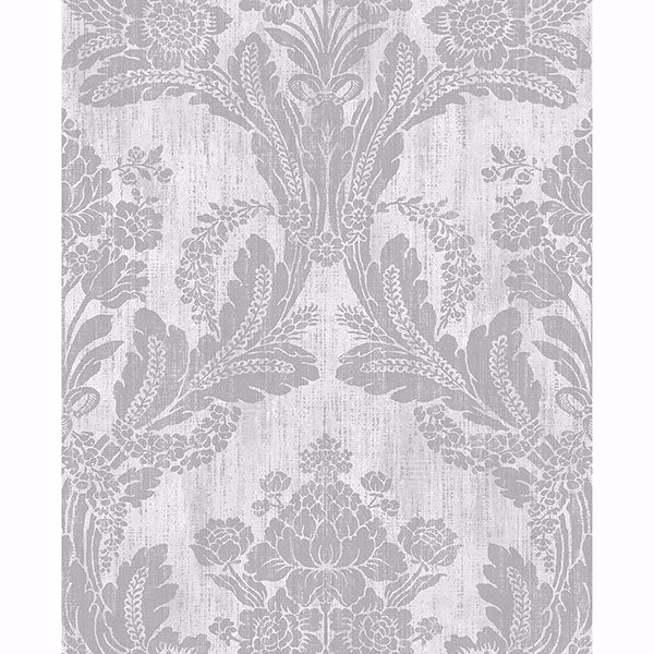 Picture of Zemi Ivory Damask Wallpaper