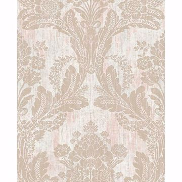Picture of Zemi Light Pink Damask Wallpaper