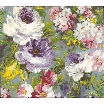 Picture of Macau Multicolor Painterly Floral Wallpaper