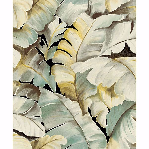 Picture of Mardan Light Green Banana Leaf Wallpaper