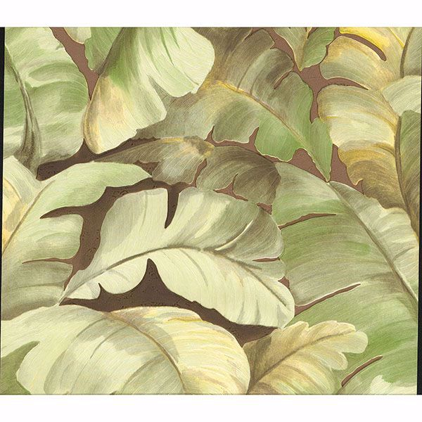Picture of Mardan Lime Banana Leaf Wallpaper