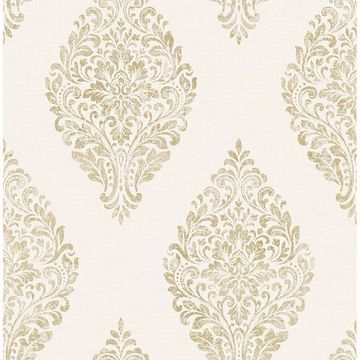 Picture of Pascale Off-white Medallion Wallpaper
