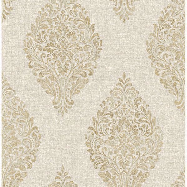 Picture of Pascale Gold Medallion Wallpaper