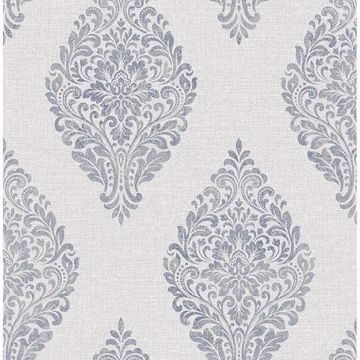 Picture of Pascale Light Grey Medallion Wallpaper