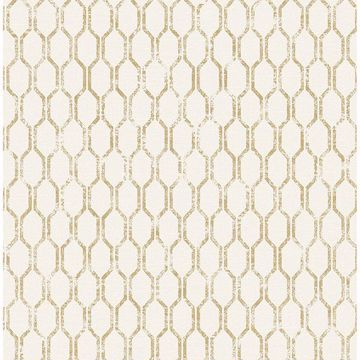 Picture of Elodie Gold Geometric Wallpaper
