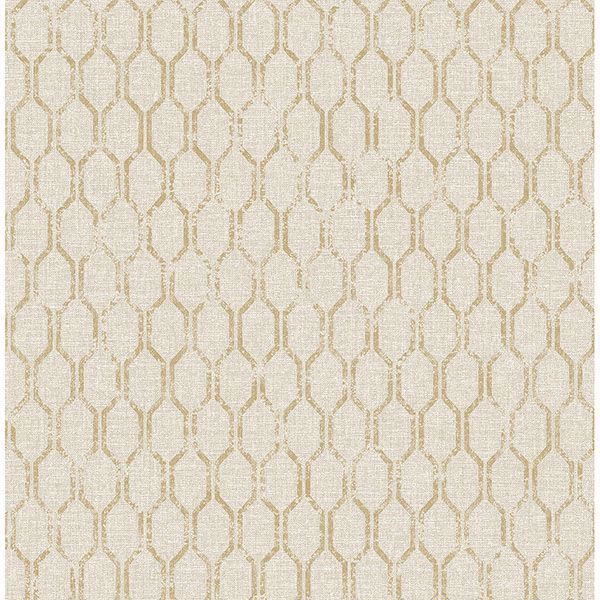 Picture of Elodie Neutral Geometric Wallpaper
