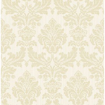 Picture of Piers Cream Texture Damask Wallpaper