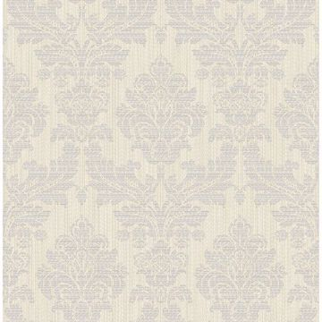 Picture of Piers Metallic Texture Damask Wallpaper