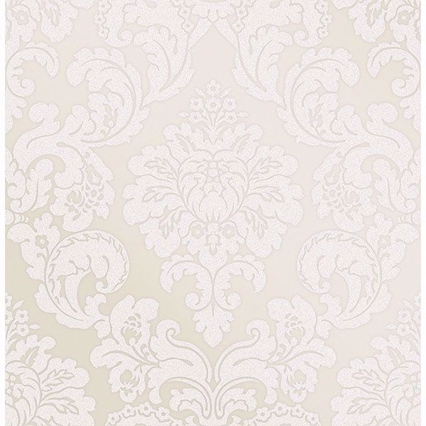 Picture of Margot Cream Damask Wallpaper