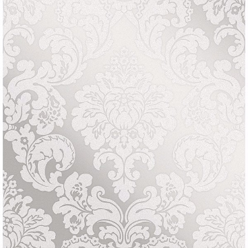 Picture of Margot Silver Damask Wallpaper