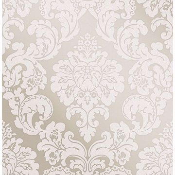 Picture of Margot Bronze Damask Wallpaper