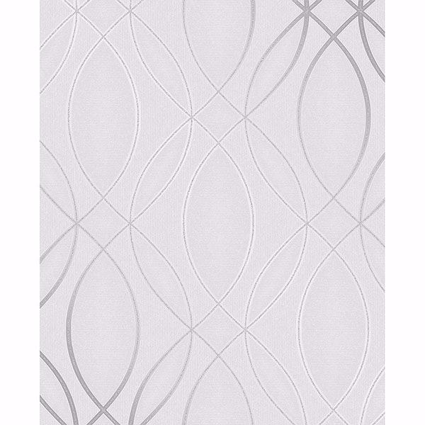Picture of Lisandro Light Grey Geometric Lattice Wallpaper