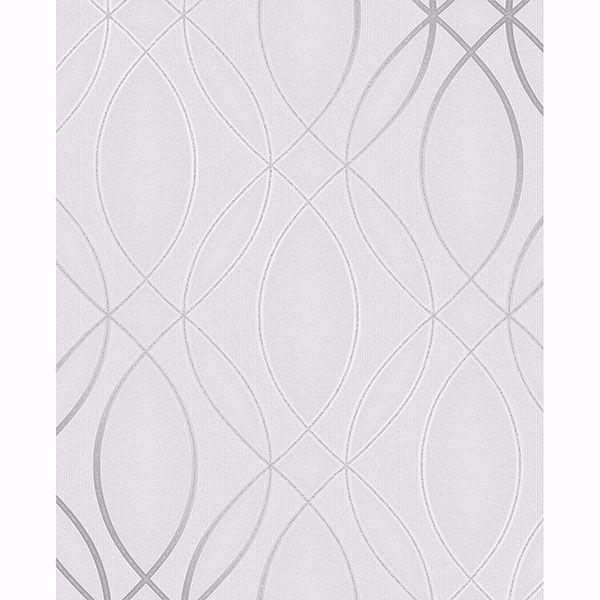 Picture of Lisandro Light Grey Geometric Lattice Wallpaper