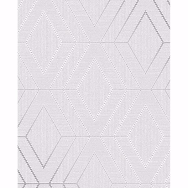 Picture of Adaline Light Grey Geometric Wallpaper