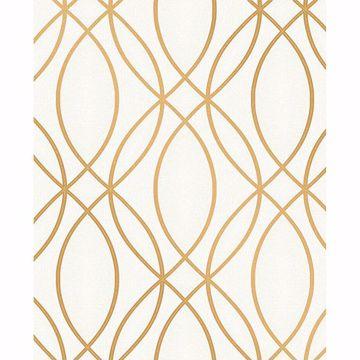 Picture of Lisandro Gold Geometric Lattice Wallpaper