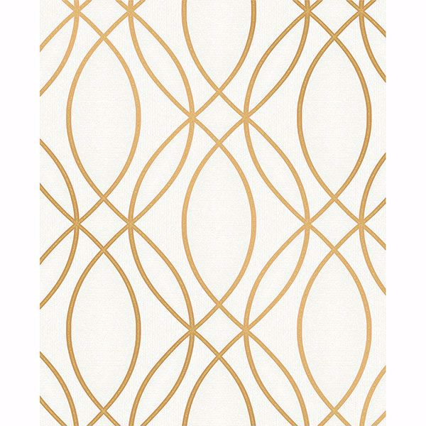 Picture of Lisandro Gold Geometric Lattice Wallpaper