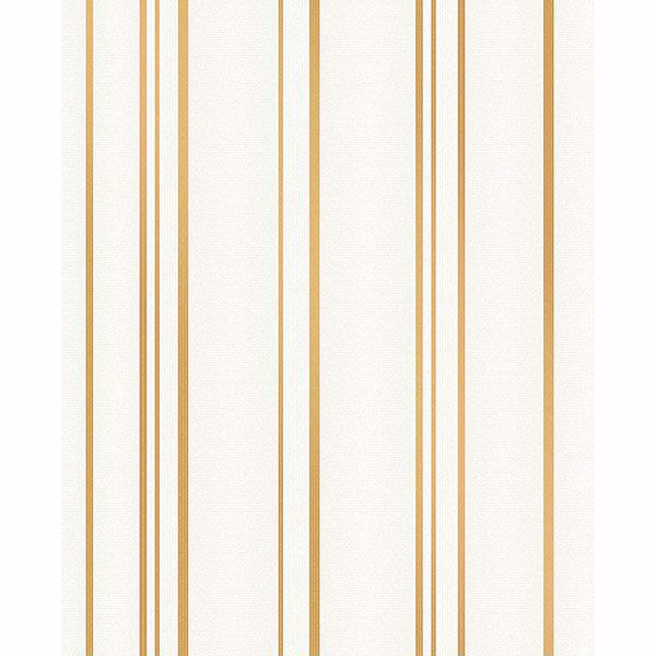 Picture of Thierry Gold Stripe Wallpaper