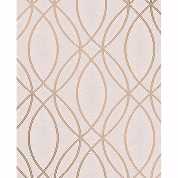 Picture of Lisandro Rose Gold Geometric Lattice Wallpaper