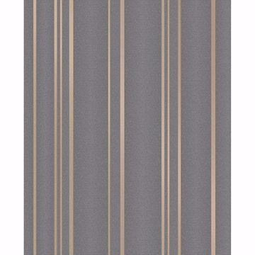 Picture of Thierry Taupe Stripe Wallpaper