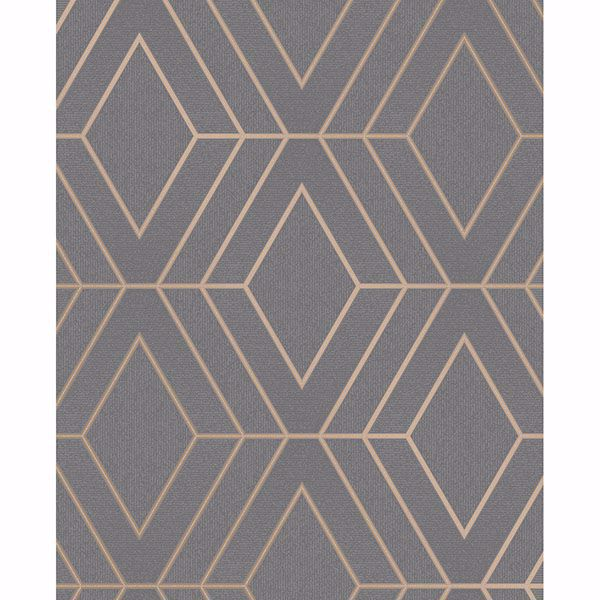 Picture of Adaline Taupe Geometric Wallpaper
