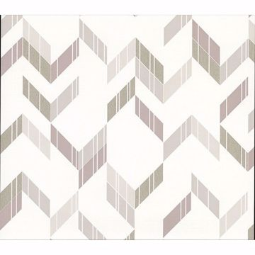 Picture of Verity Neutral Herringbone Wallpaper