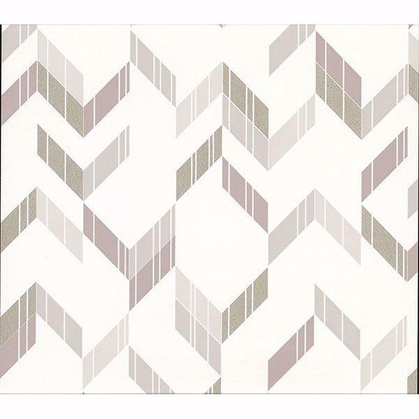 Picture of Verity Neutral Herringbone Wallpaper