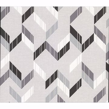 Picture of Verity Multicolor Herringbone Wallpaper