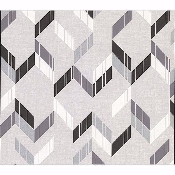 Picture of Verity Multicolor Herringbone Wallpaper