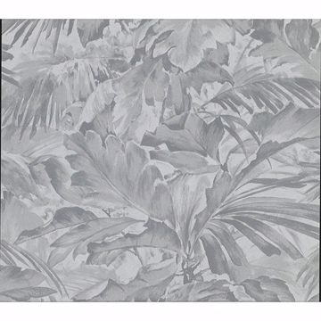 Picture of Boyce Grey Botanical Wallpaper