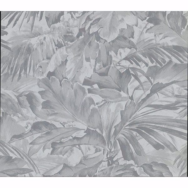 Picture of Boyce Grey Botanical Wallpaper